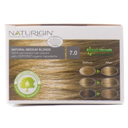 Naturigin Organik Saç Boyası Doğal Orta Sarı 7.0 - Thumbnail