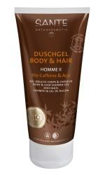 Sante - SANTE Organik Erkek Vücut ve Saç Duş Jeli (Kafein ve Acai) 150ml